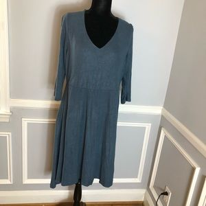New Torrid Slate Blue Soft Knit Skater Dress